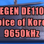 [9650kHz] 朝鮮の声(Voice of Korea) Interval Signal - DE1103(DEGEN,愛好者3号)