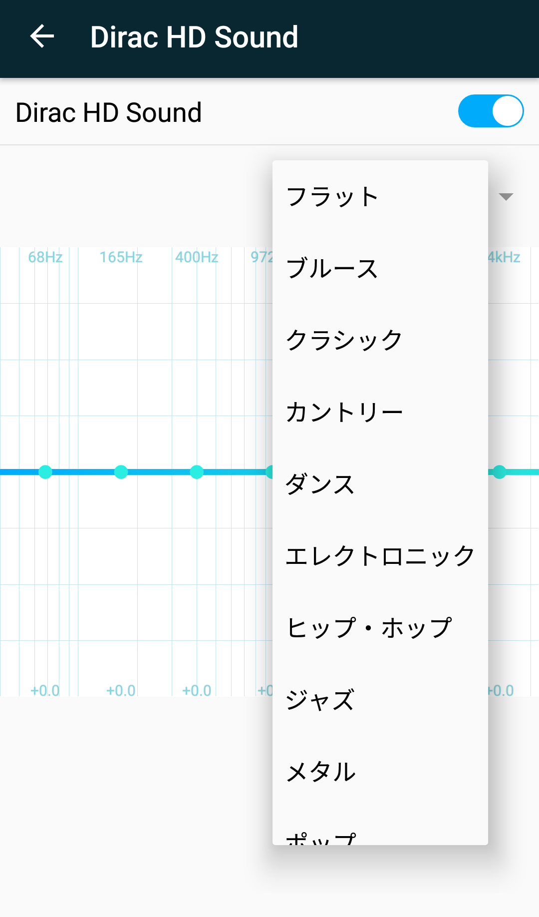 Dirac HD Soundの設定