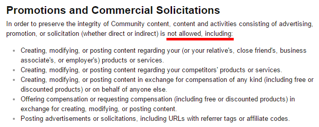 Promotions and Commercial Solicitations